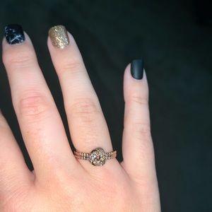 Rose Gold Pandora Knot Ring